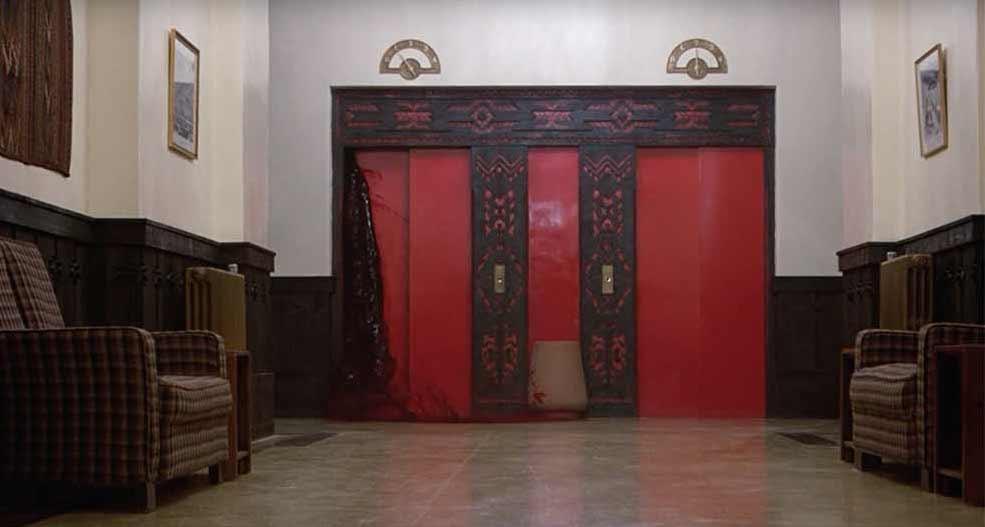 Elevator Blood scene