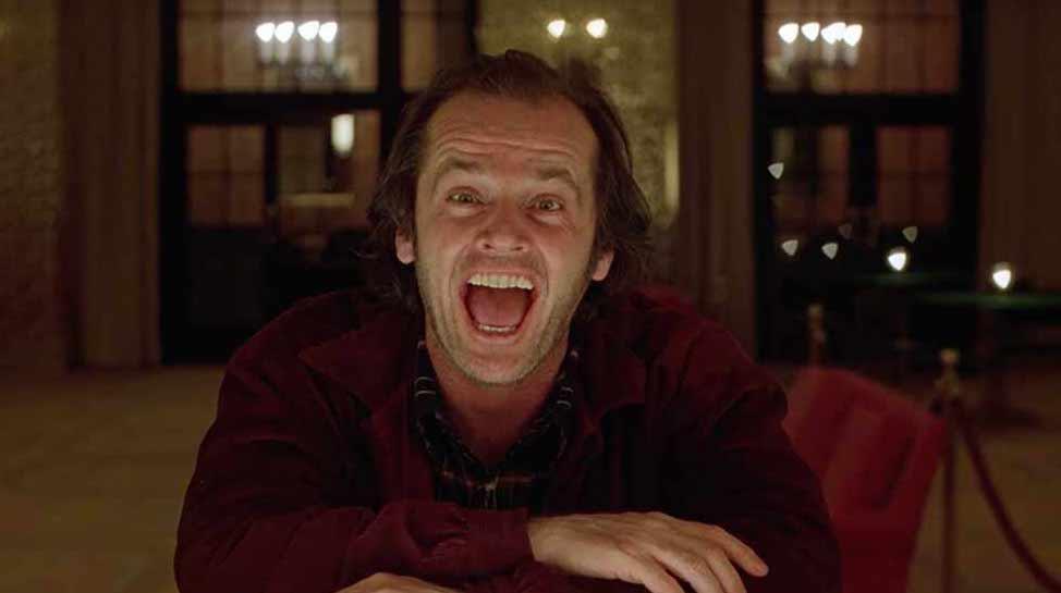 Jack Nicholson as Jack Torrance. Image : WB