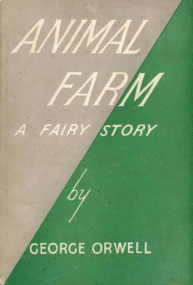 The first cover edition of Animal Farm