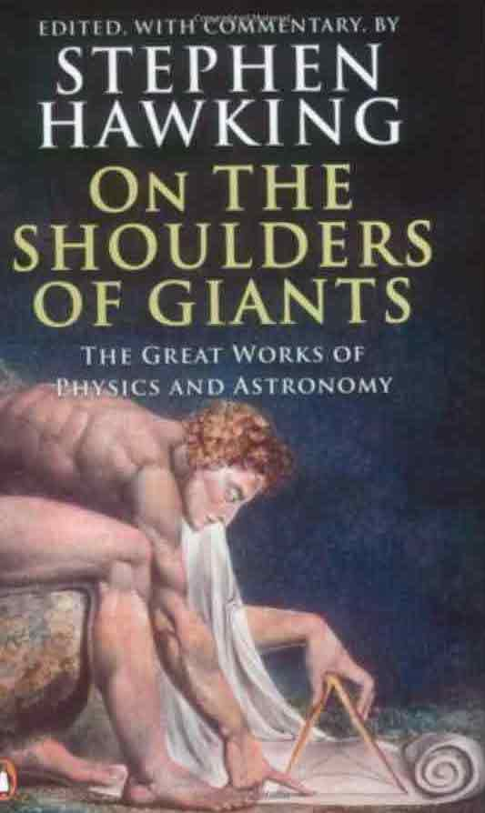 On the shoulders of a giant. Books by Stephen Hawking