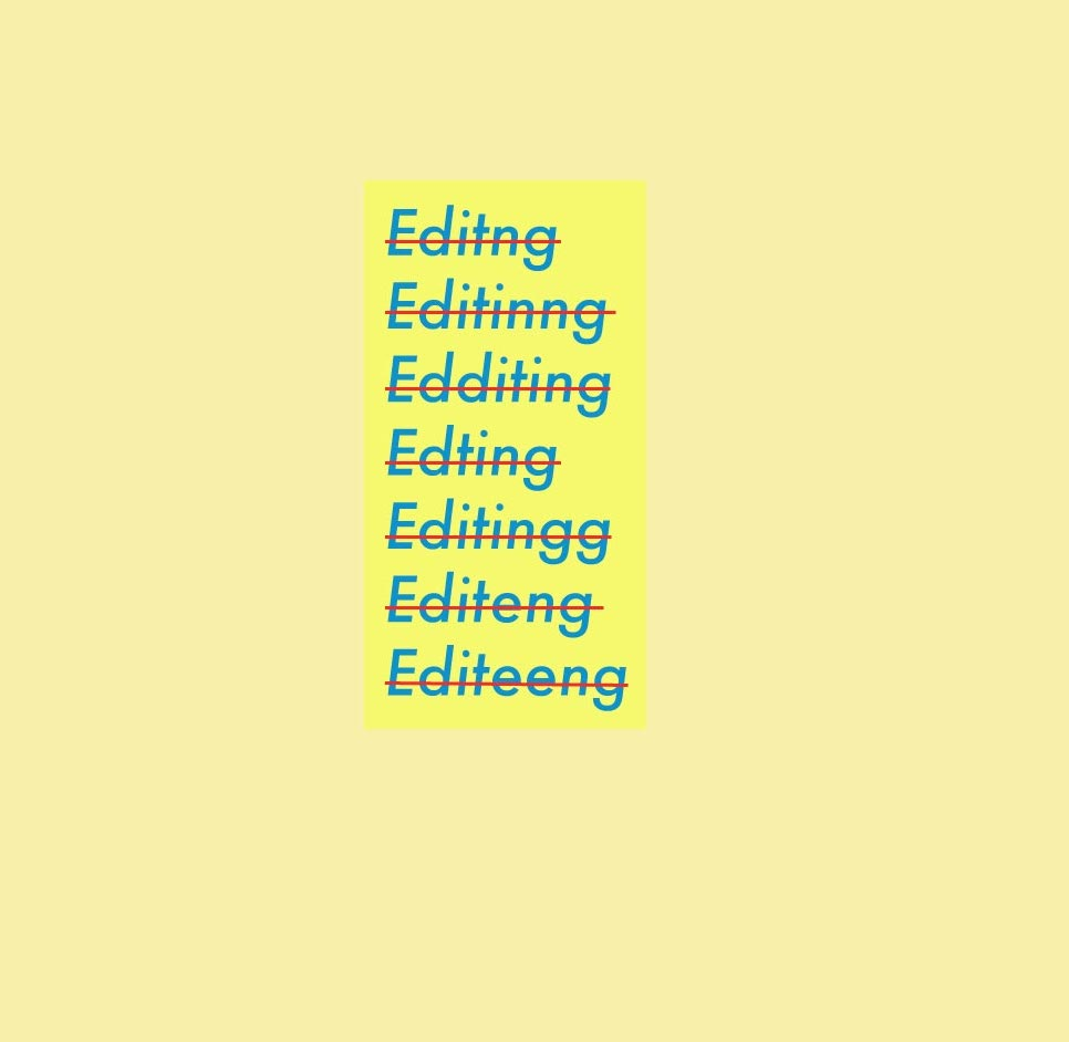 Different types of editing cover image