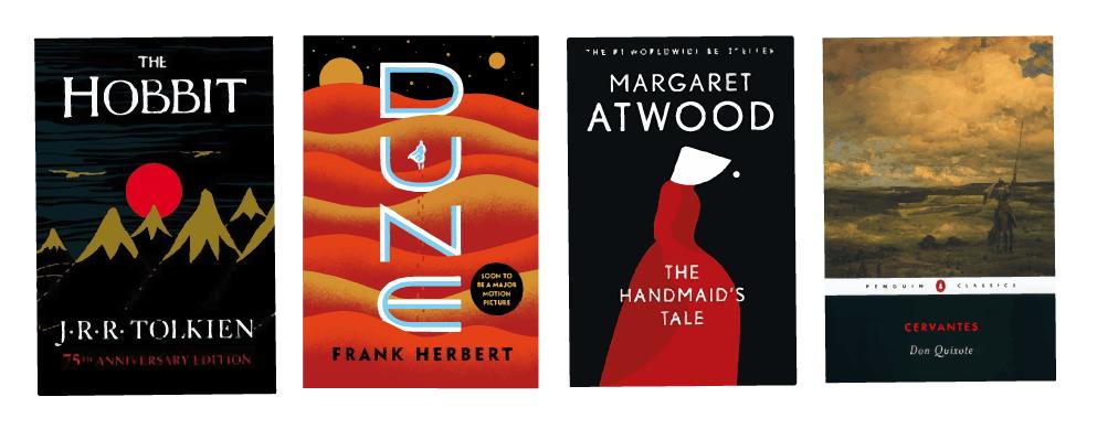 paperback books to show hardcover vs paperback