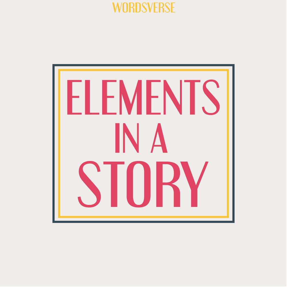 Elements in a story cover image
